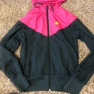 Grey and pink Nike Sportswear Windrunner